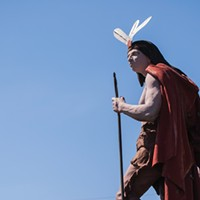 Community Pages: Northern Westchester The Mt. Kisco Indian Statue gazes over the intersection of Rtes 133 and 117 in the village of Mt. Kisco, NY