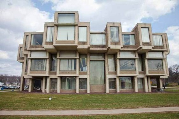 The Orange County office building in Goshen. Built by noted architect Paul Rudolph, the building has structural flaws and may be demolished. - STEFFEN THALEMANN