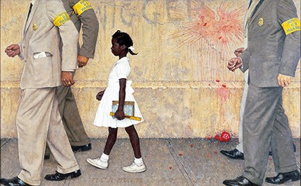 """""""The Problem We All Live With,"""" Norman Rockwell, 1964"""