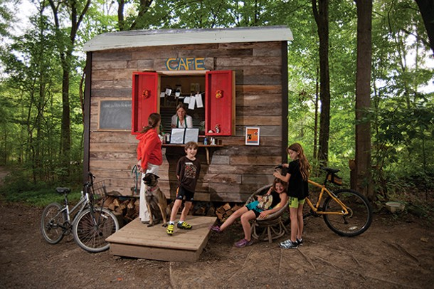 The Rail Trail Café is a 96-square-foot shed just off the Wallkill Valley Rail Trail - ROY GUMPEL