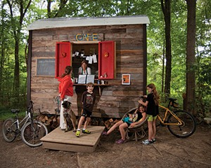 The Rail Trail Café is a 96-square-foot shed just off the Wallkill Valley Rail Trail
