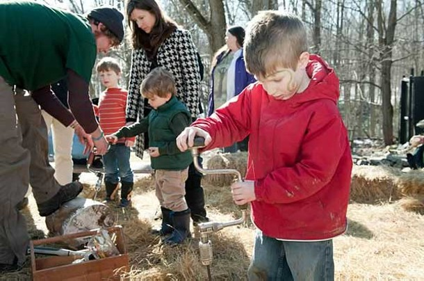 The Randolph School Maplefest on March 9 included maple sugaring demonstrations, music, storytelling, face painting, crafts, and a pancake breakfast.