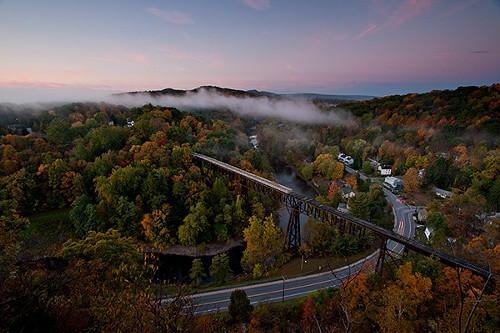 The Rosendale Trestle pre-restoration.