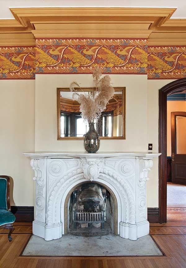The sitting room fireplace. - DEBORAH DEGRAFFENREID