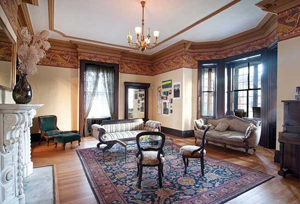 The sitting room of the Fullerton Mansion is sometimes host to community events like poetry readings. - DEBORAH DEGRAFFENREID