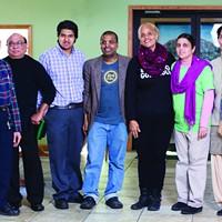 Two Dosas, Twice Daily The staff of Nimai's Bliss Kitchen: Manu Patel, Vijay Patel, Hari Raval, Garuda Hari, Eveylyn, Jalangi Raval, and Jyotinder Kaur. Karen Pearson