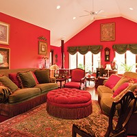 Living Large in Lagrangeville The sumptuously appointed livig room