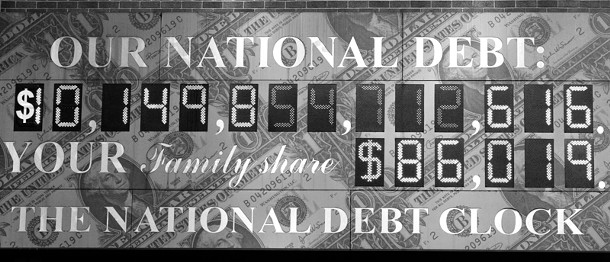 The Times Square Debt Clock charts our current debt