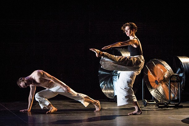 The Trisha Brown Dance Company performing I'm going to toss my arms—if you catch them they're yours. - The company will perform at Bard's Fisher Center on June 27 and 28.