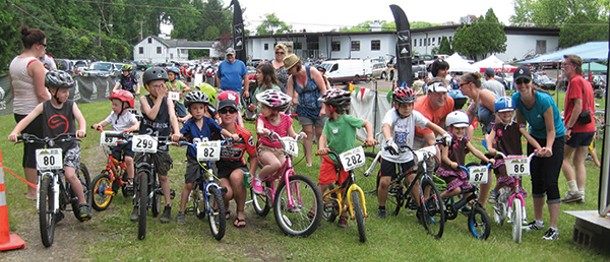 The Tyke Bikers at the Williams Lake Classic in Rosendale on June 9.