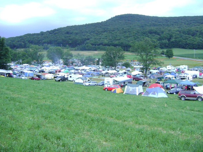 The view from our tent over the lower camping field. - RACHEL CAREY
