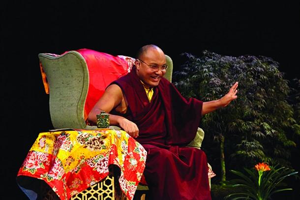 Tibetan Buddhist leader Ogyen Tringley Djore speaking at UPAC in Kingston on April 18. - ROBERT STURM/COURTESY OF KARMA TRIYANA DHARMACHAKRA