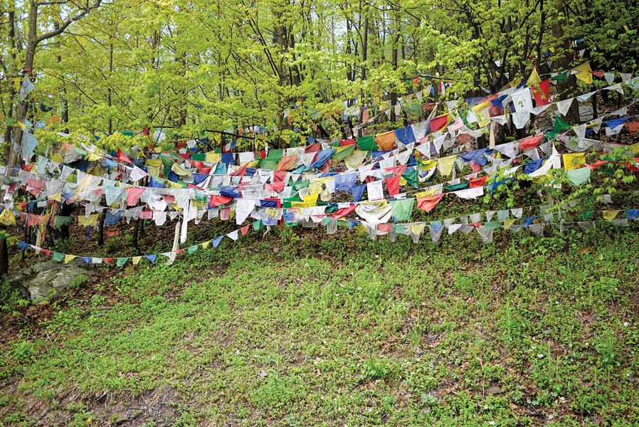 Tibetan prayer flags at Karma Triyana Dharmachakra Monastery - DAVID CUNNINGHAM