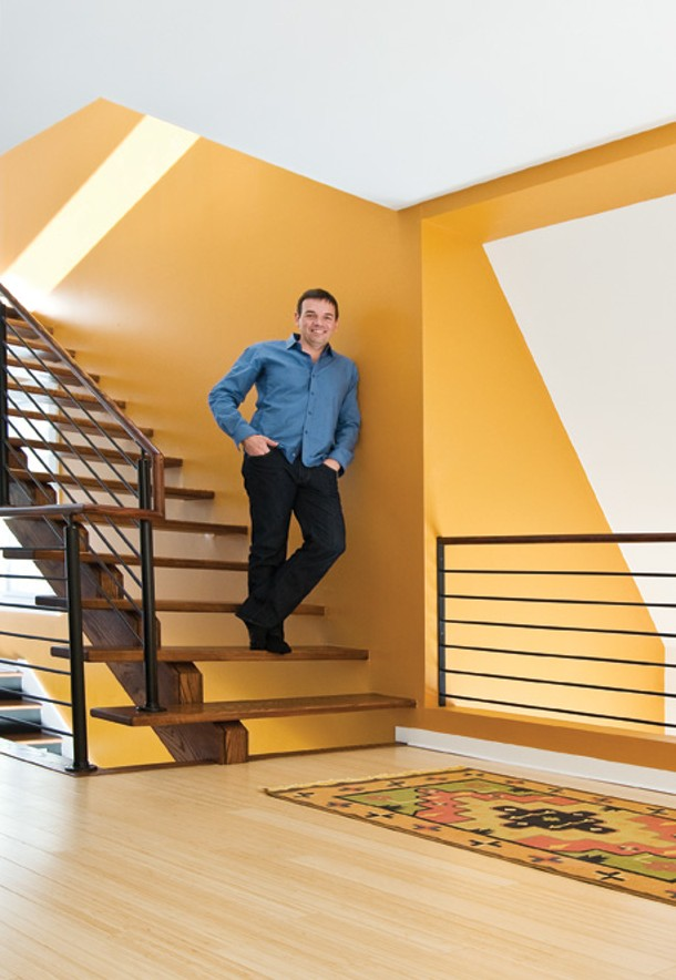 To Piedrahita, the stairs are the core of the way movement circulates in the house. He wanted them to be fun, open, and ceremonial, and wide enough to enable casual interaction. - DEBORAH DEGRAFFENREID