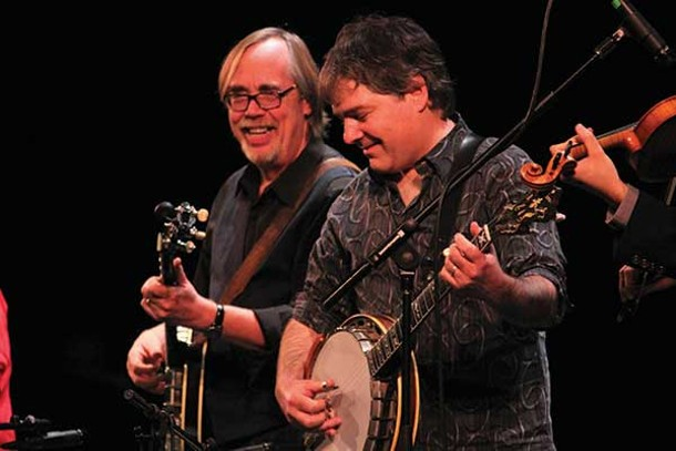 Tony Trischka and Béla Fleck at the Bardavon's Banjo Summit on November 4. - MICHAEL WEISBROT