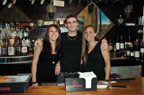Tori Campbell, Alex Lamb, and Lisa Maher at Dutch Ale House. - DAVID CUNNINGHAM