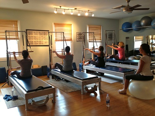 Tower Class in progress at Rhinebeck Pilates