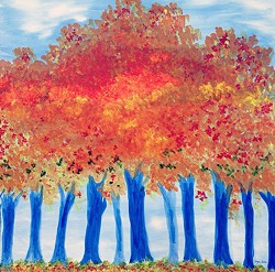 """Trees: Wearing Autumn Colors"" by Elayne Seaman"
