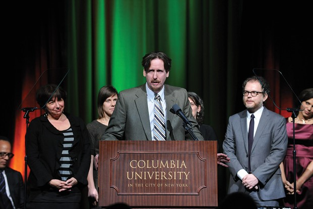 Trey Kay, receiving the honorary DuPont-Columbia University Award.