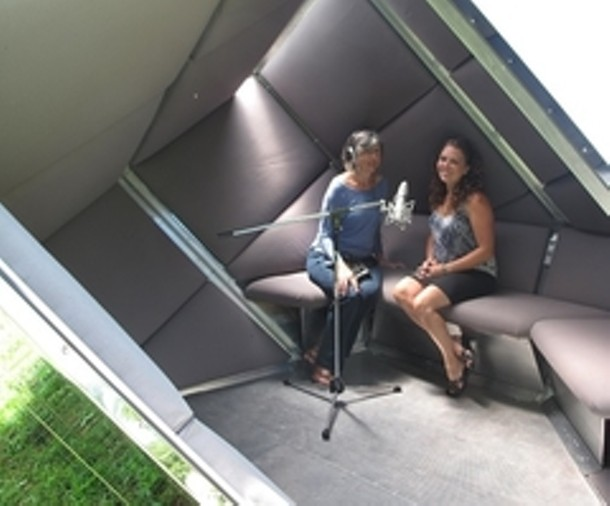 Two Hudson Valley residents share their stories in The Cube. - SOUNDANDSTORY.ORG