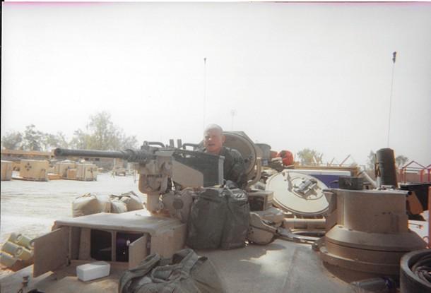 David Carrell on parol in Iraq in 2003.