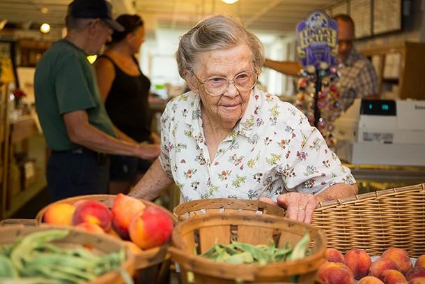 Grandma Clearwater at Jones Farm in Cornwall - KAREN PEARSON