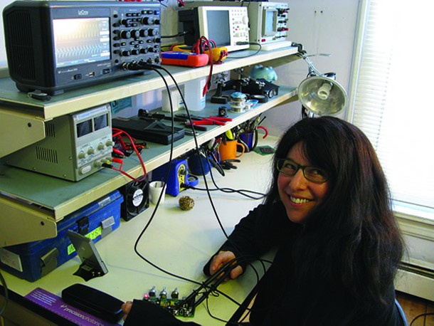 Sophi Kravitz at her home lab in Kingston.