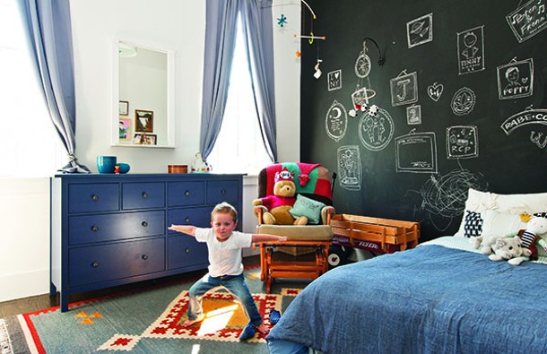 Birch's son Jack in his bedroom. - DEBORAH DEGRAFFENREID