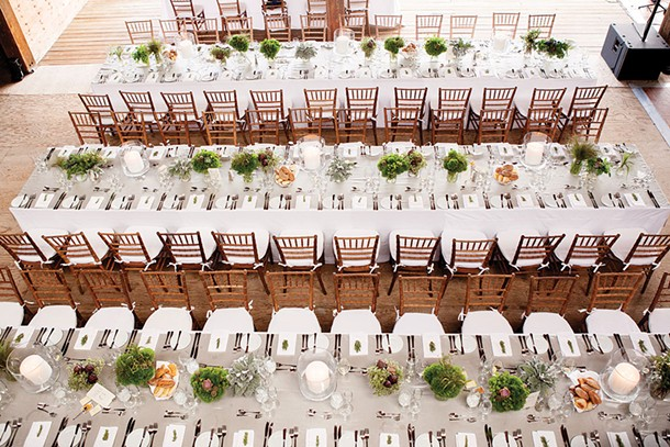 The dinner setting from a wedding at Grasmere Farm in Rhinebeck planned by Lydia Bailey for Charmed Places. - RANDY AHART/PHOTOPINK
