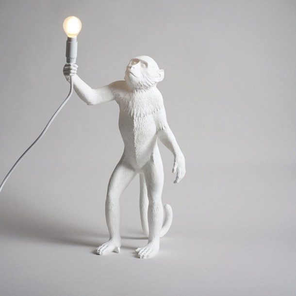 Monkey lamp from Burkelman in Cold Spring.