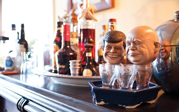 Bottle stoppers bearing the heads of Kennedy and Krushchev commemorate the Cuban Missile Crisis. - DEBORAH DEGRAFFENREID