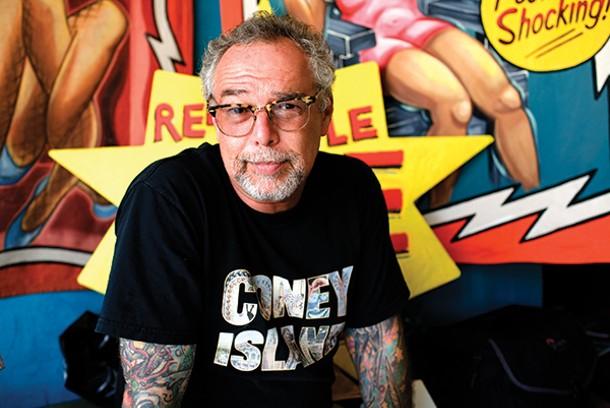 Dick Zigun at the Coney Island Museum - LAURE LEBEL