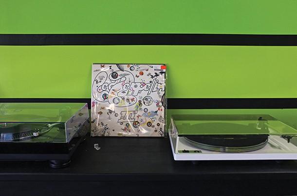 Vinyl listening stations at Darkside - FIONN REILLY