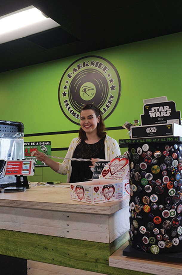 Bekah Polonsky behind the counter at Darkside. - FIONN REILLY