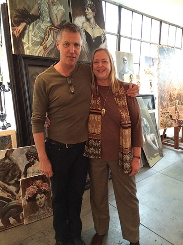 Carrie Haddad and artist Mark Beard
