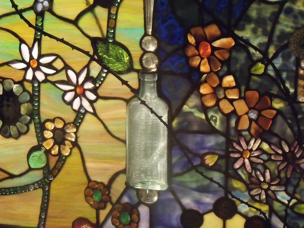"""Detail from """"Tree of Life"""" stained glass window by Laura Fuller. - AMANDA PAINTER"""