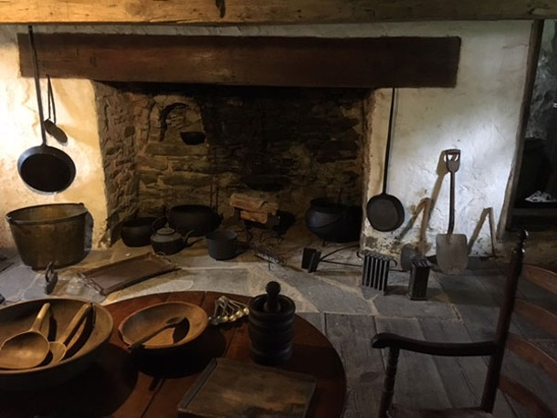The recreated woodstove in the slaves' quarters - DIANA WALDRON