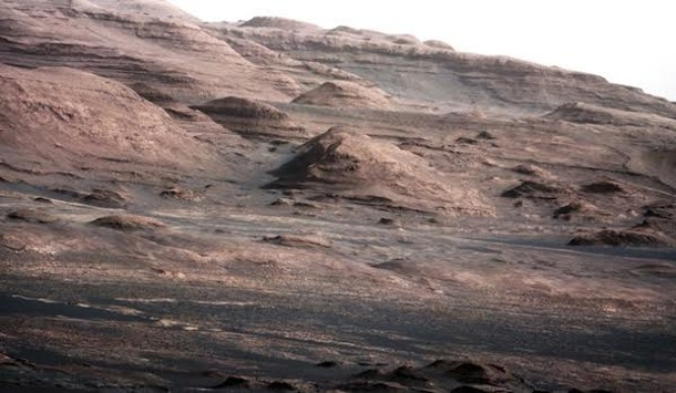 NASA's Curiosity rover photographed Mount Sharp on Mars in August 2012. - PHOTO BY NASA/JPL-CALTECH