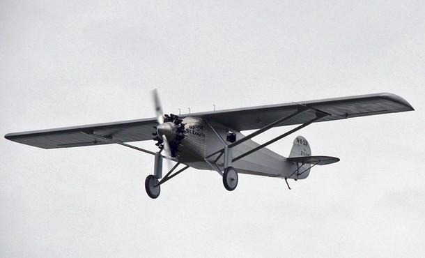 The Spirit of St. Louis in flight. - LARRY SWAYNE