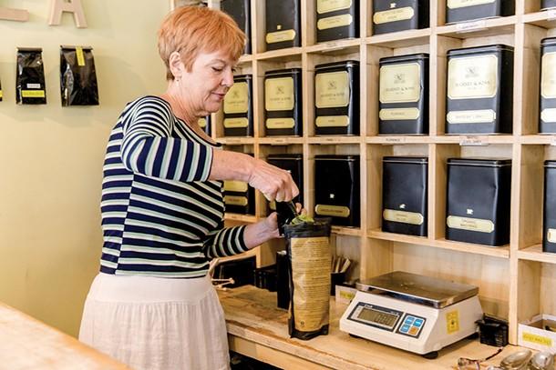Amanda Depew at The Tea Shop in Woodstock. - EVA DEITCH