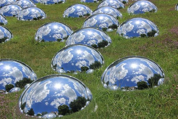 Mirrored domes at Chesterwood, in Stockbridge, MA. - AMANDA PAINTER