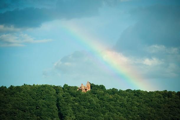 A rainbow over Olana. - ROY GUMPEL