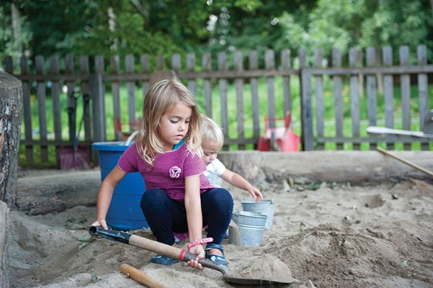 Students in the play yard at Primrose Hill School in Rhinebeck. - HILLARY HARVEY