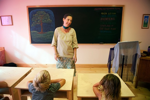 Christine Good in the first grade classroom at Primrose Hill School. - HILLARY HARVEY