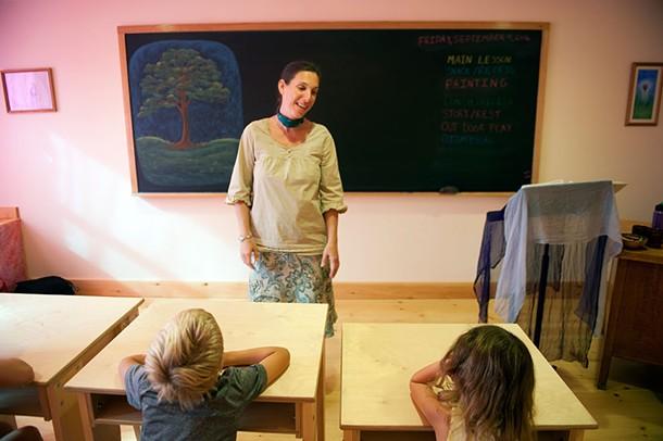 Christine Good in the first grade classroom at Primrose Hill School. - HILLARY HARVEY