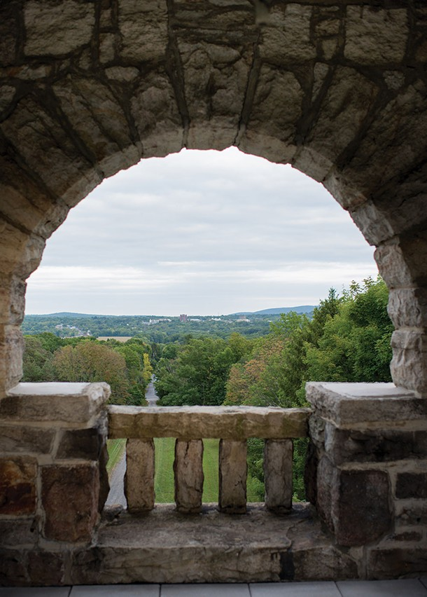 The view of New Paltz from the Testimonial Gateway Tower at Mohonk Preserve Foothills - CHRISTINE ASHBURN