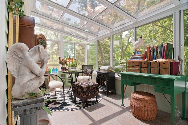 A kitchen extension/ living room in Saugerties by Hudson Valley Sunrooms.