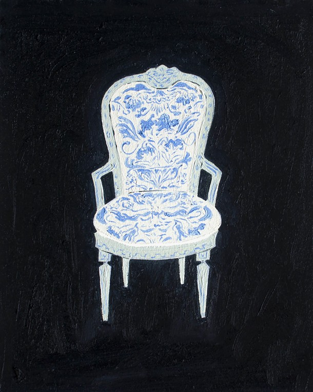 The Met; Didn't Sit On, Emily Isabella, oil and gouache on paper
