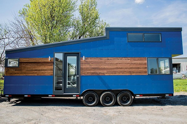 The Big Blue Model from Liberation Tiny Homes will be featured at the Tiny House & Green Living Freedom Fest in New Paltz.