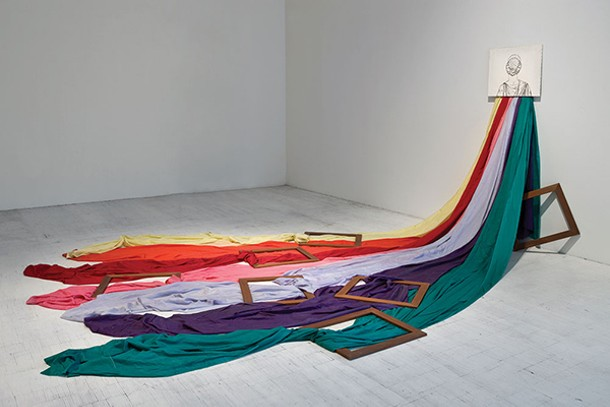 """Giuolio Paolini's """"Amore e Psiche,"""" one of the pieces featured at Magazzino, a new center for avant-garde Italian art in Cold Spring. Magazzino opens on June 28. - AGOSTINO OSIO"""
